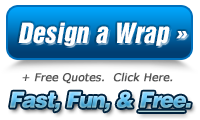 Design a vehicle wrap online with Custom Car Wraps!  Customize your own vinyl wraps, decals, and fleet graphics and get quotes from vehicle wrap shops in your area for free!